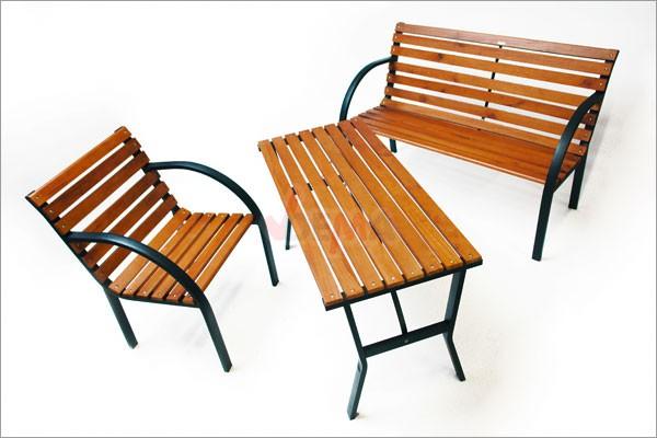 Gartenstühle holz metall  DEMA Set Gartenstuhl, Gartentisch, Gartenbank Modern Gartenmöbel ...